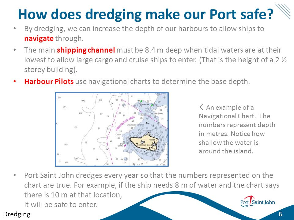 How does dredging make our Port safe