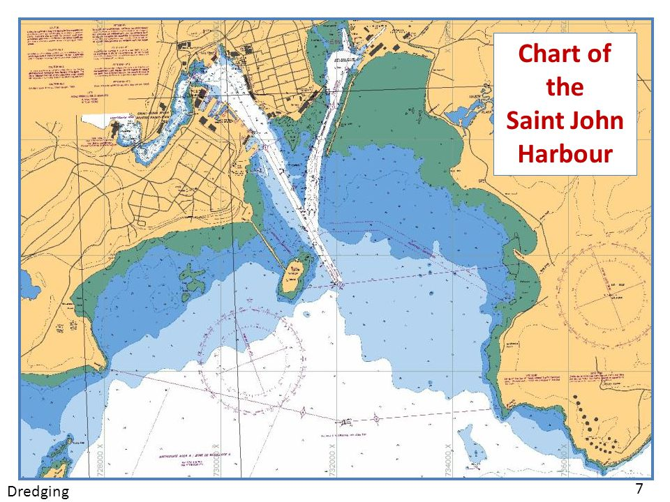 Chart of the Saint John Harbour