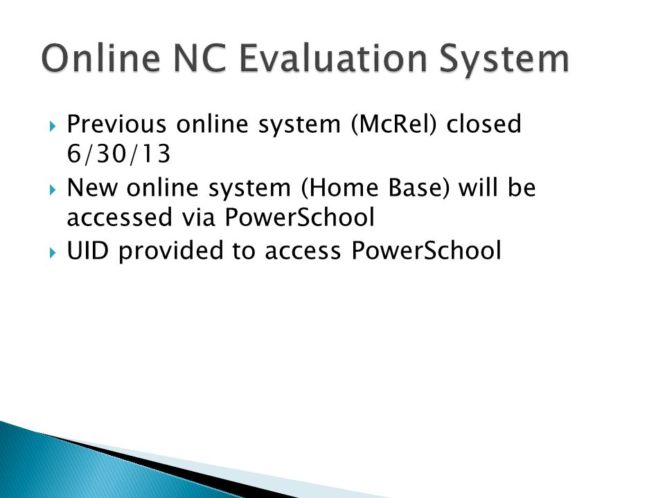 Online NC Evaluation System