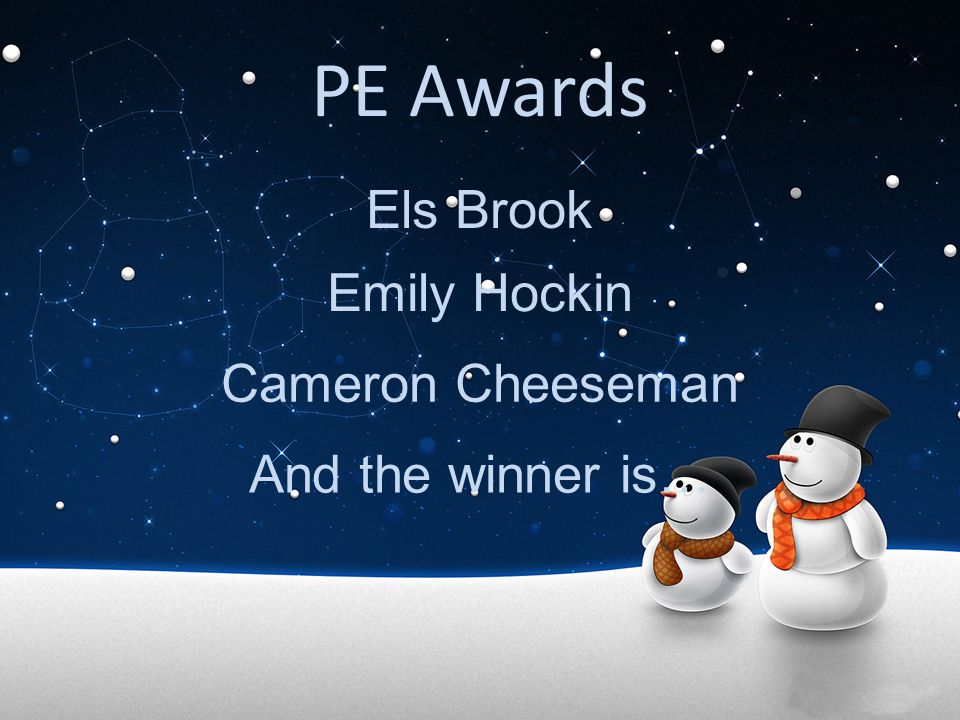PE Awards Els Brook Emily Hockin Cameron Cheeseman And the winner is…