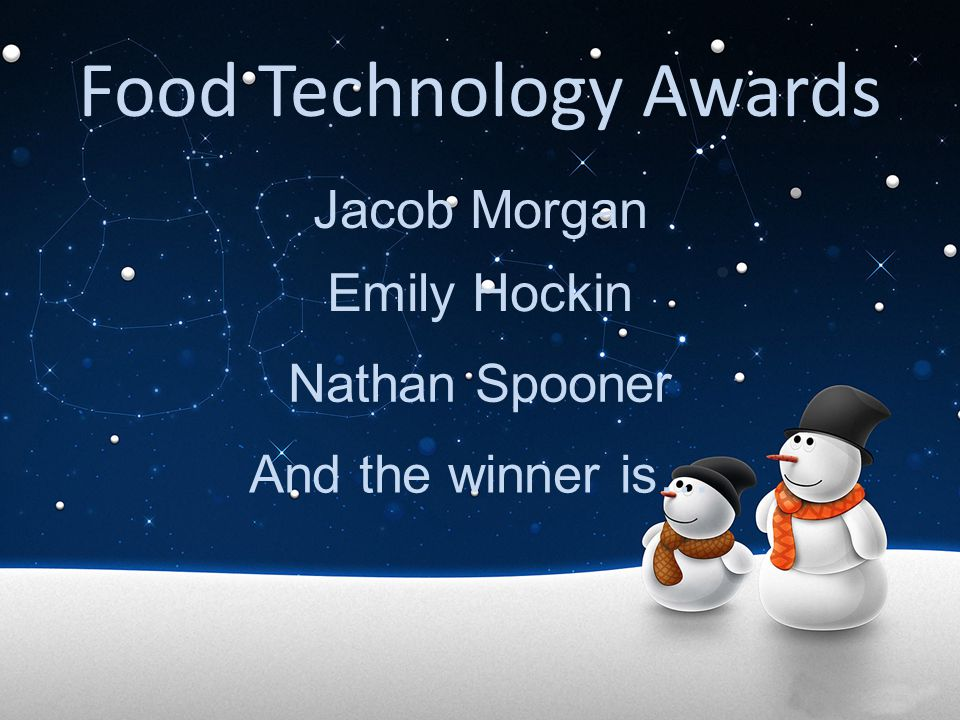 Food Technology Awards
