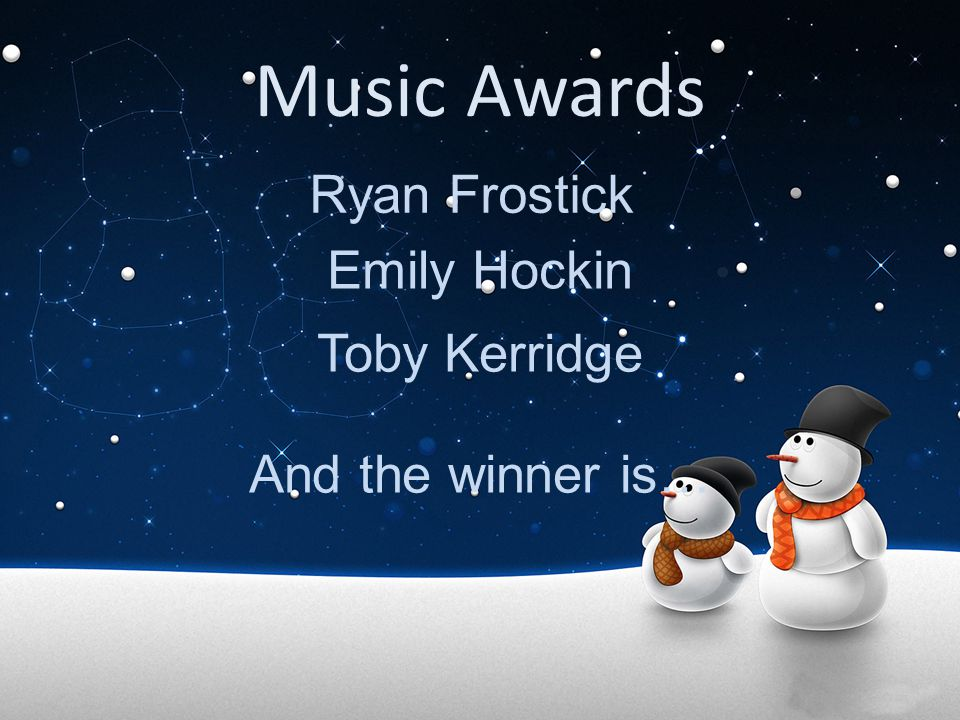 Music Awards Ryan Frostick Emily Hockin Toby Kerridge