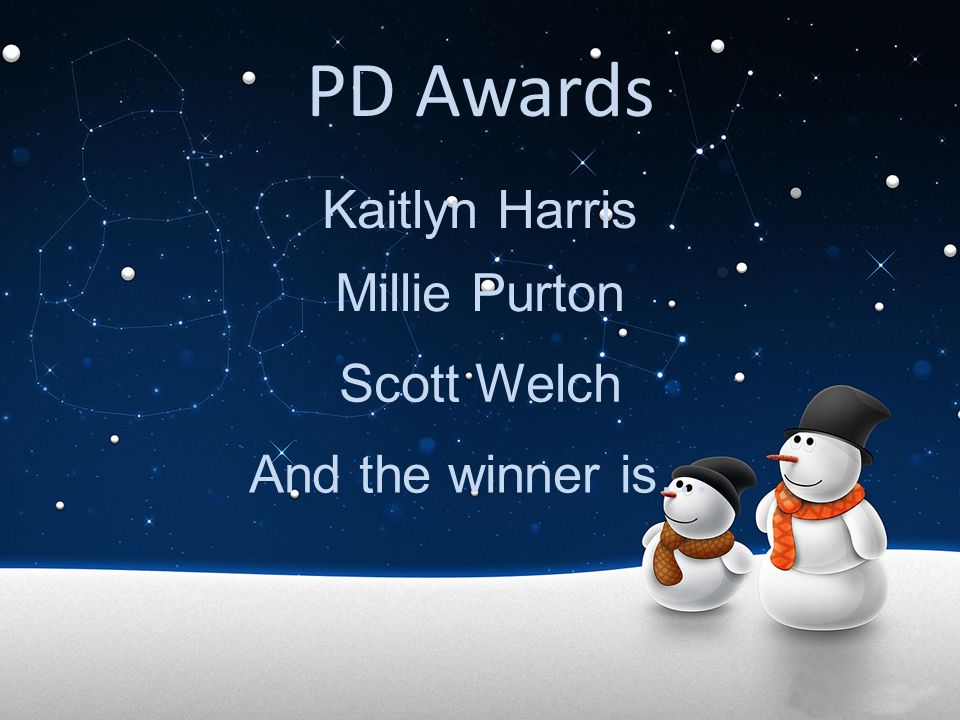 PD Awards Kaitlyn Harris Millie Purton Scott Welch And the winner is…