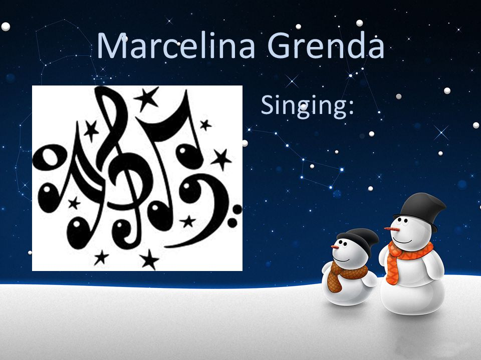Marcelina Grenda Singing: