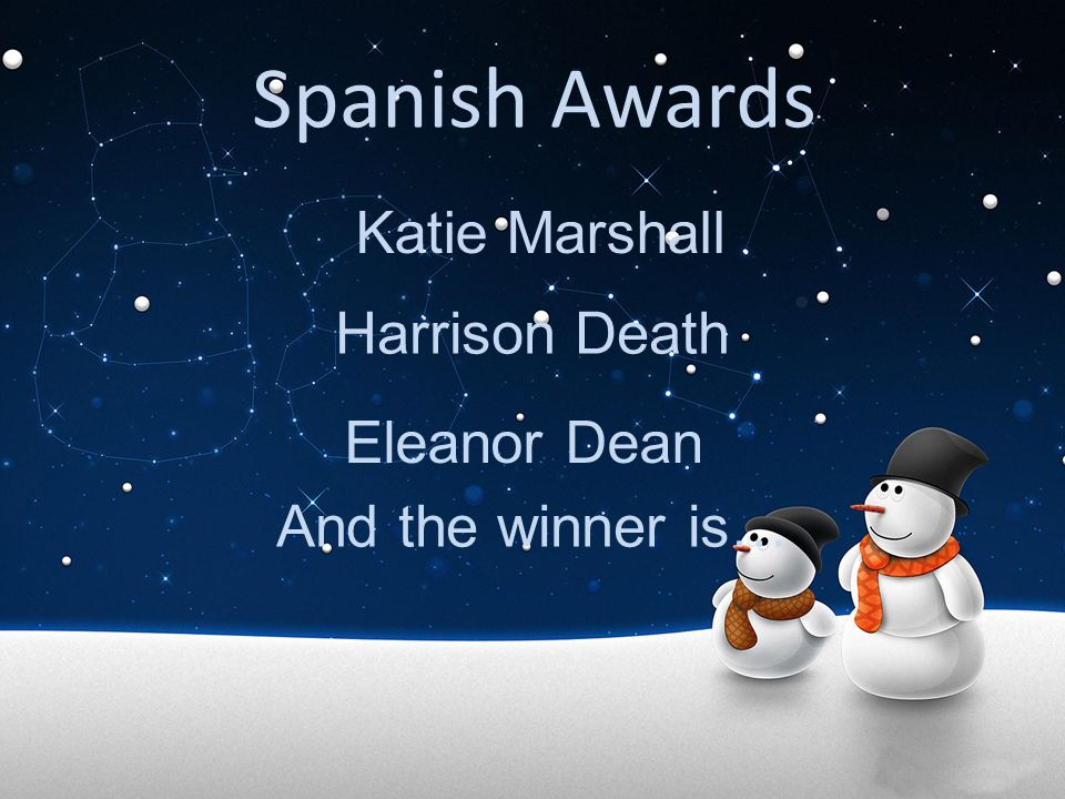 Spanish Awards Katie Marshall Harrison Death Eleanor Dean