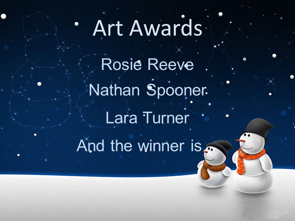 Art Awards Rosie Reeve Nathan Spooner Lara Turner And the winner is…