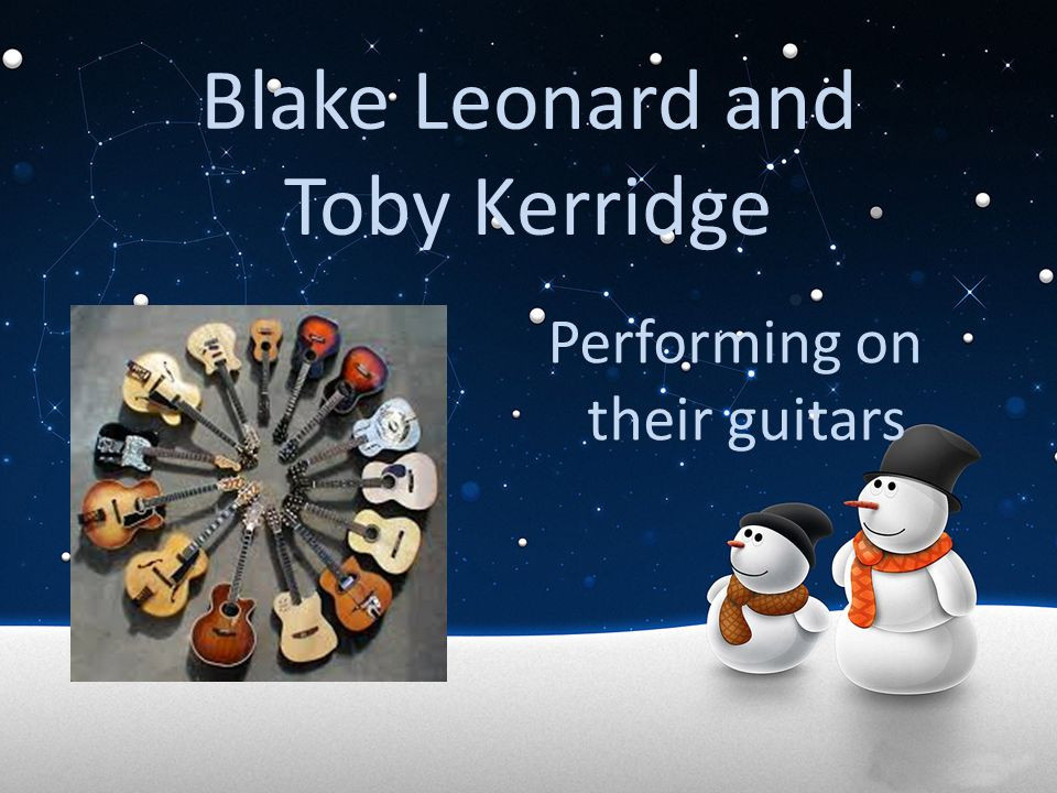 Blake Leonard and Toby Kerridge