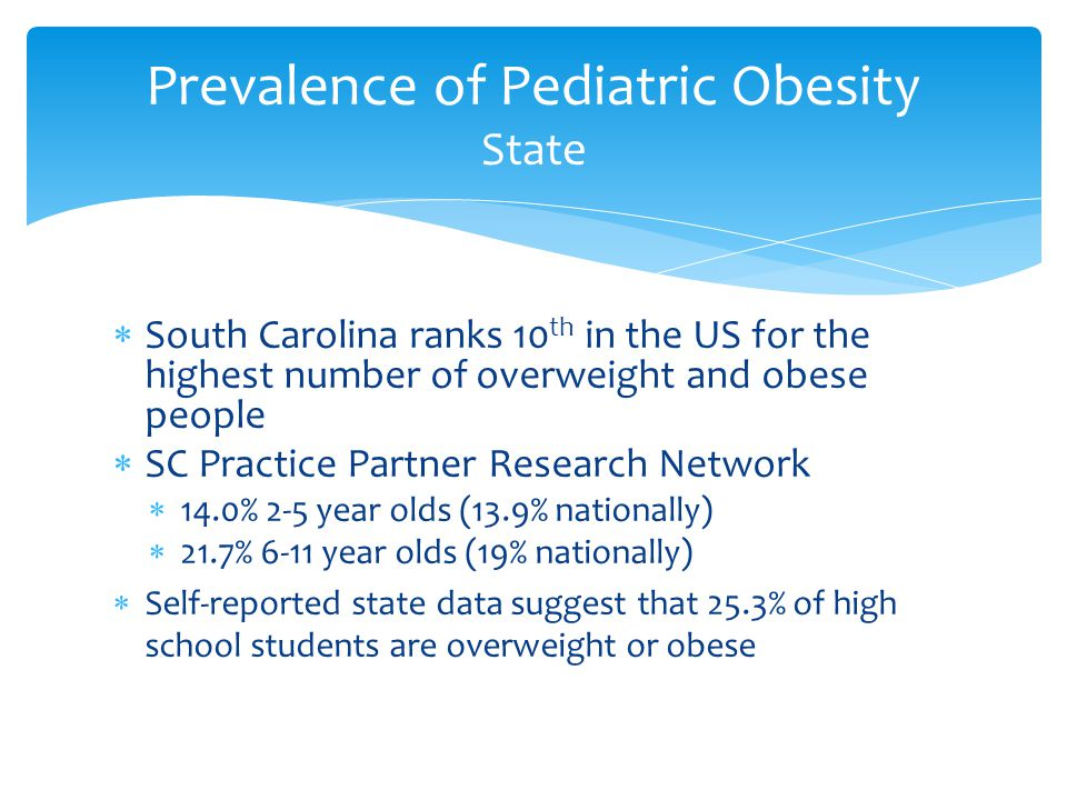 Prevalence of Pediatric Obesity State