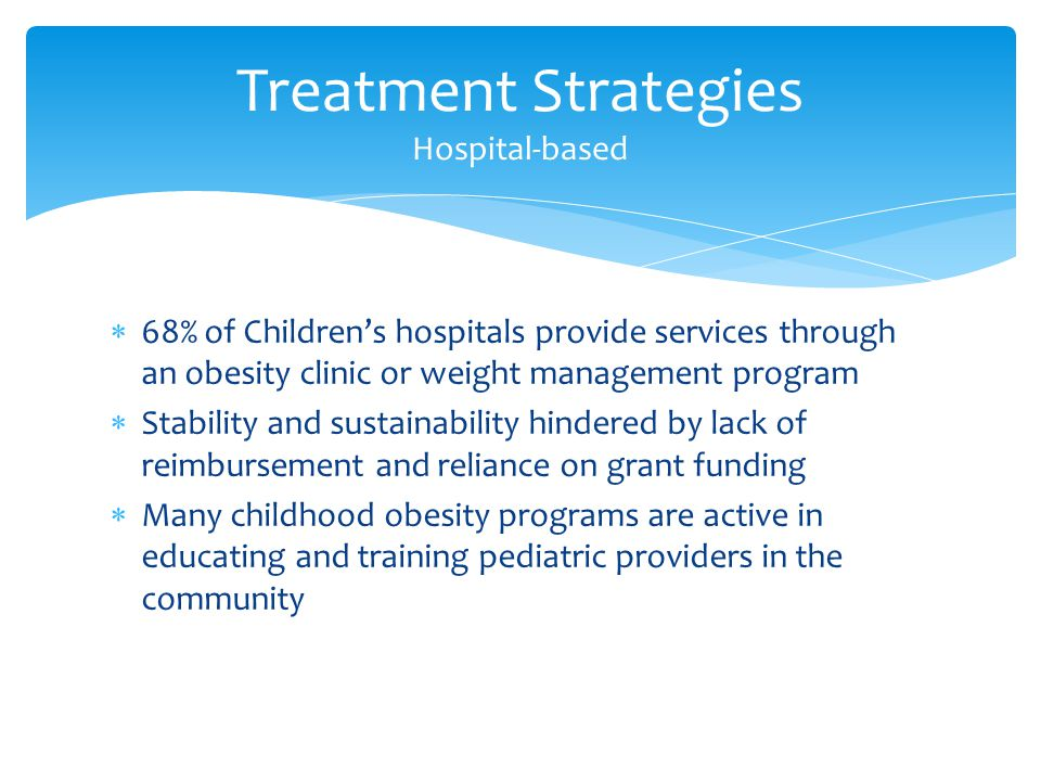 Treatment Strategies Hospital-based