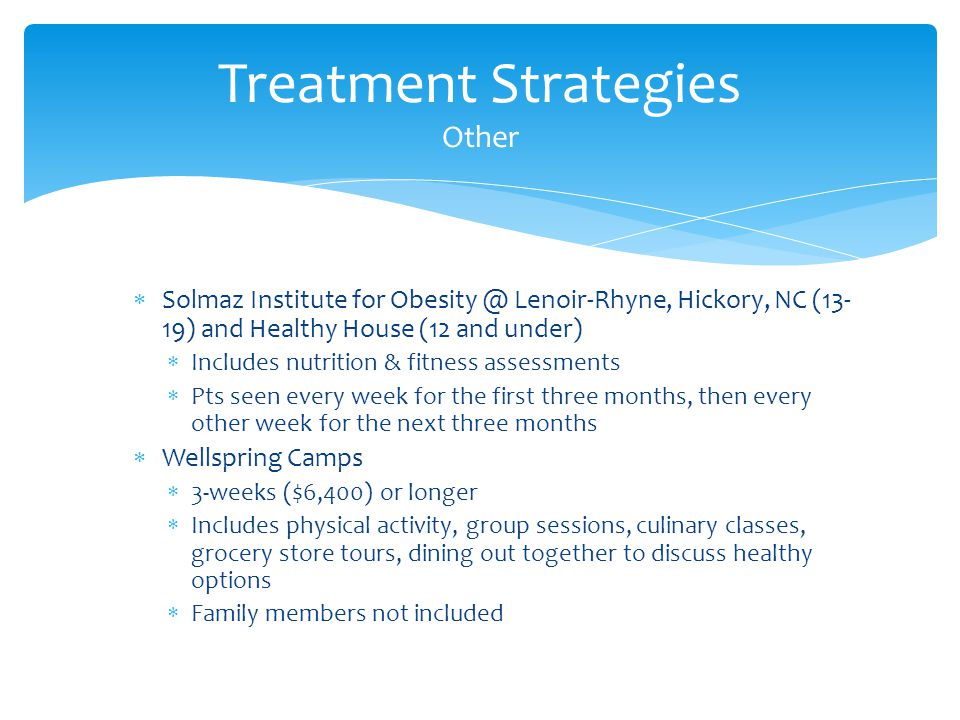 Treatment Strategies Other