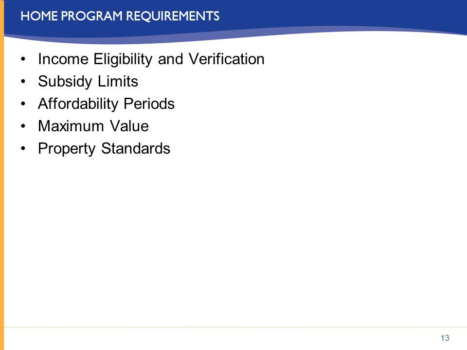 Home program requirements