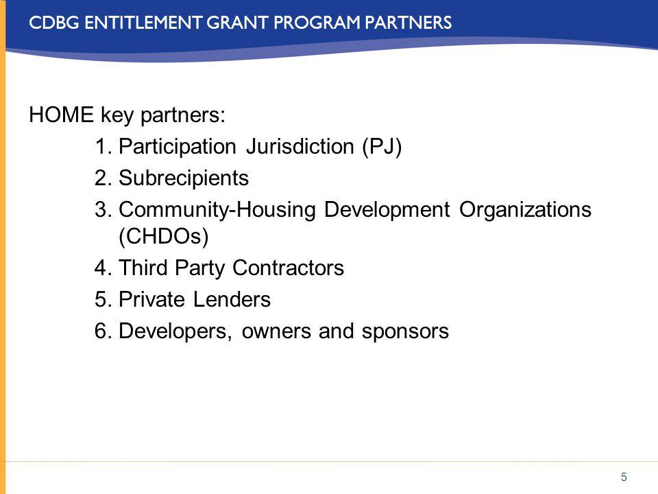 CDBG ENTITLEMENT GRANT PROGRAM PARTNERS