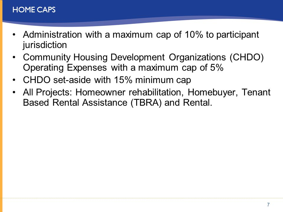 Administration with a maximum cap of 10% to participant jurisdiction