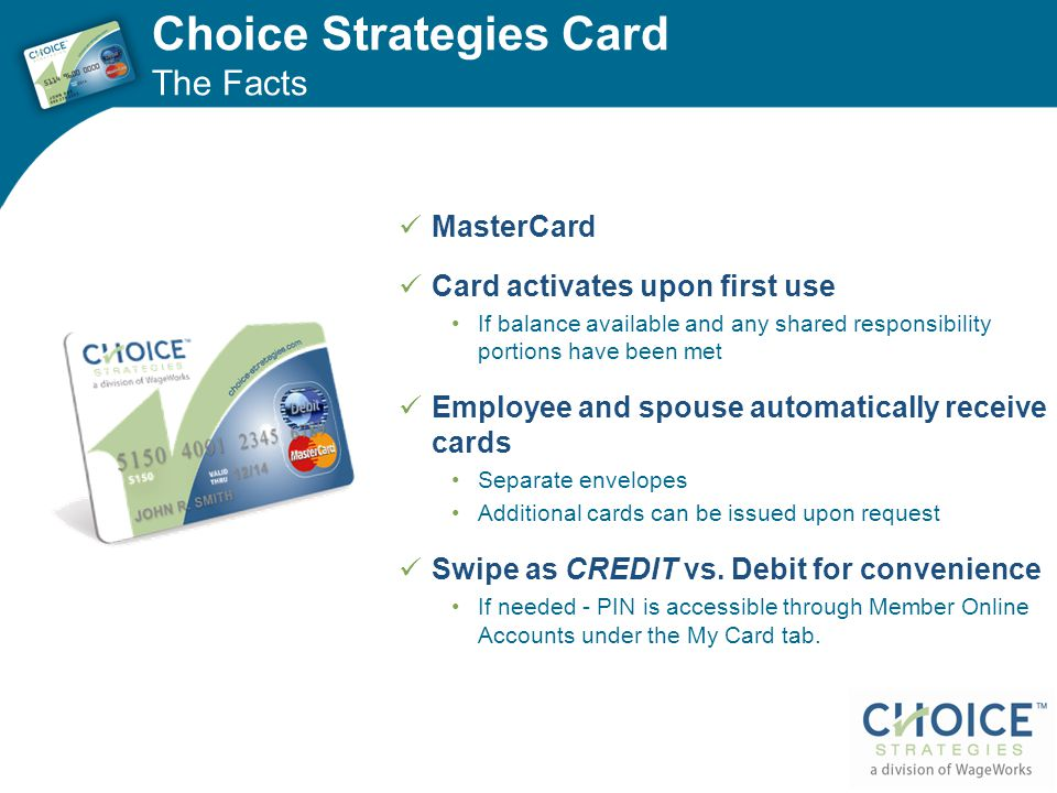 Choice Strategies Card