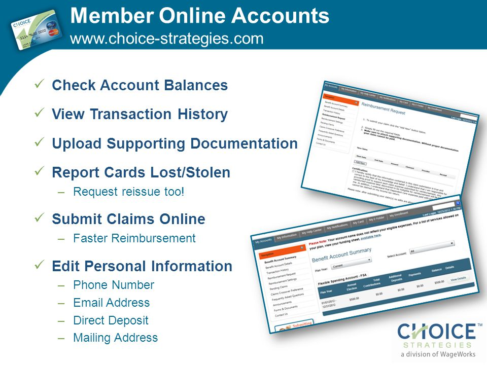 Member Online Accounts