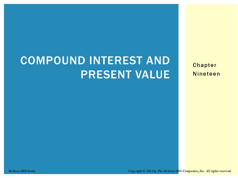 Compound Interest and Present Value