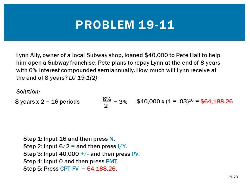 Problem 19-11