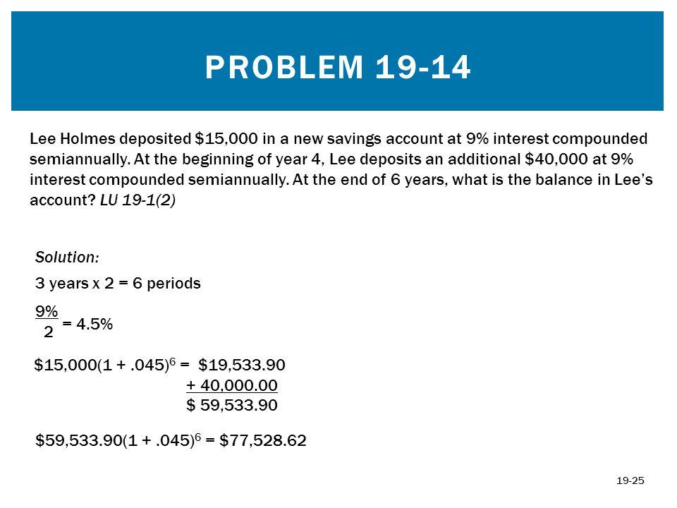 Problem 19-14