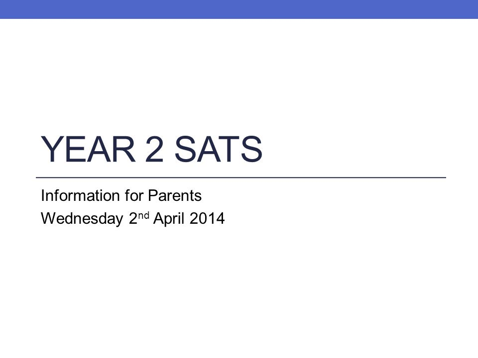 Information for Parents Wednesday 2nd April 2014