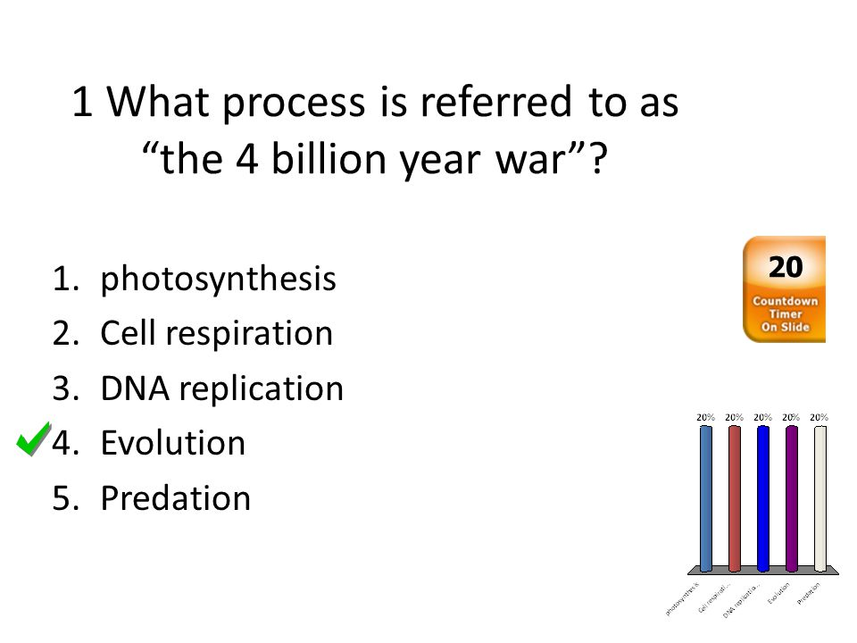 1 What process is referred to as the 4 billion year war