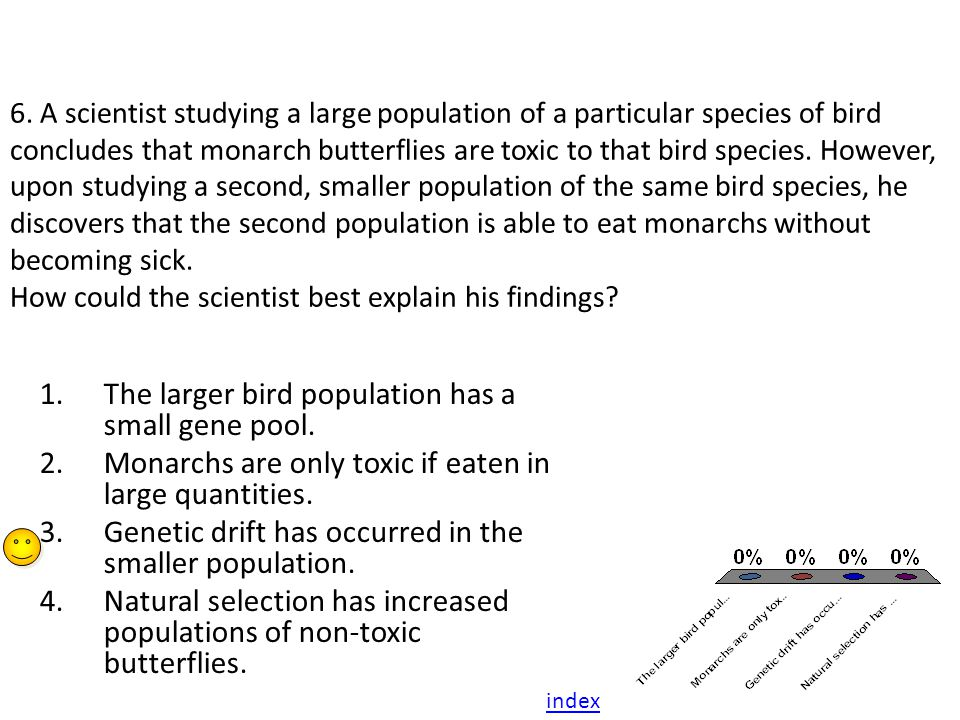 The larger bird population has a small gene pool.