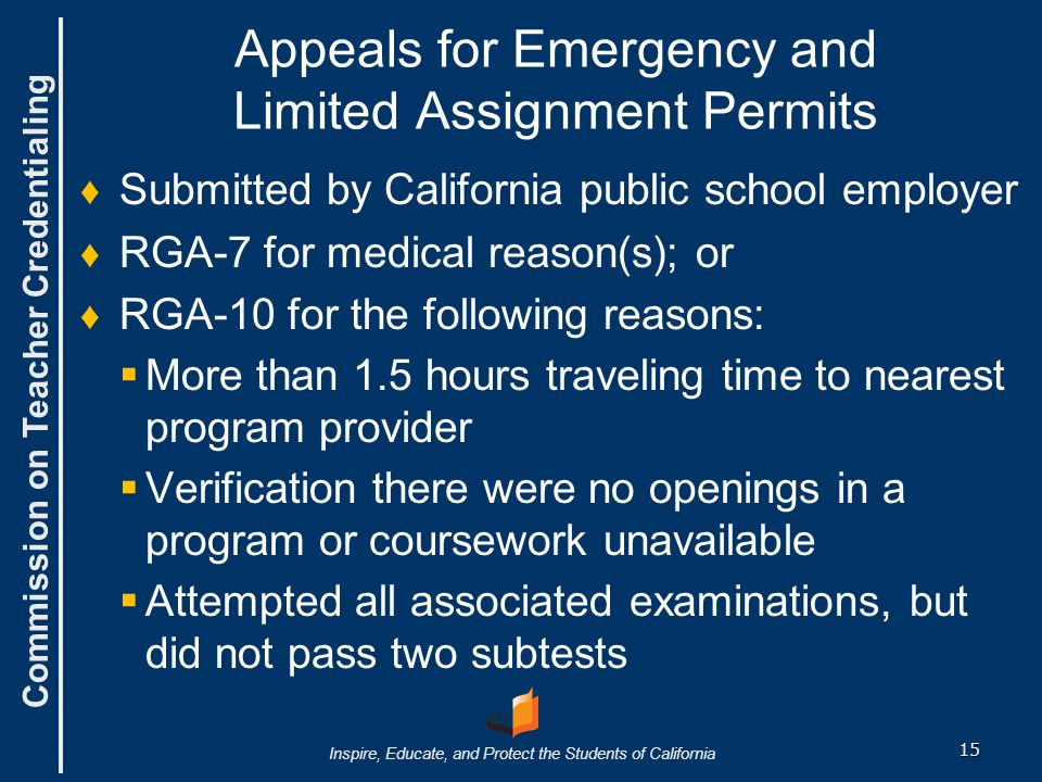 Appeals for Emergency and Limited Assignment Permits