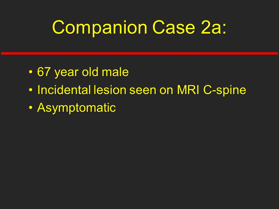 Companion Case 2a: 67 year old male