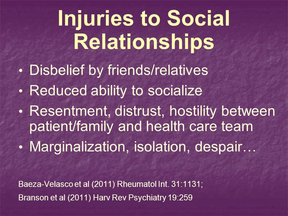 Injuries to Social Relationships