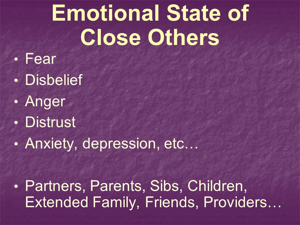 Emotional State of Close Others