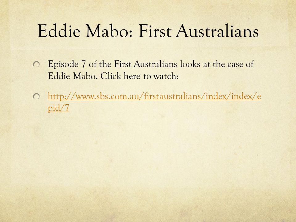 Eddie Mabo: First Australians
