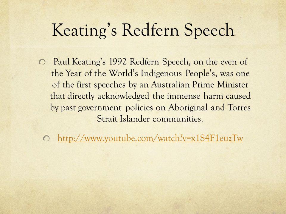 Keating's Redfern Speech