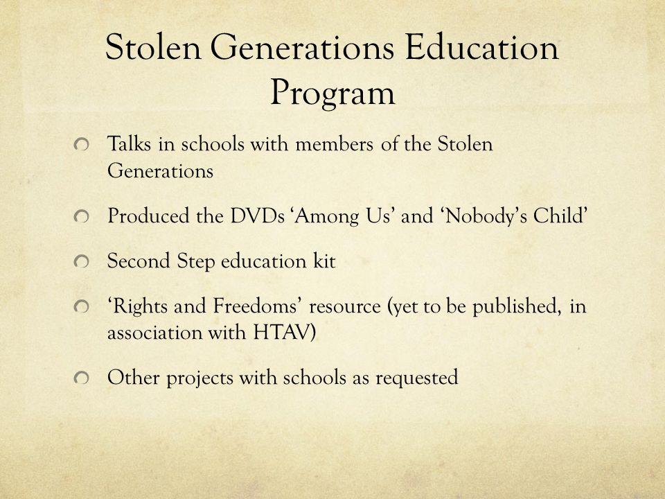 Stolen Generations Education Program