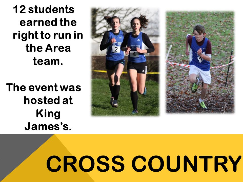 12 students earned the right to run in the Area team