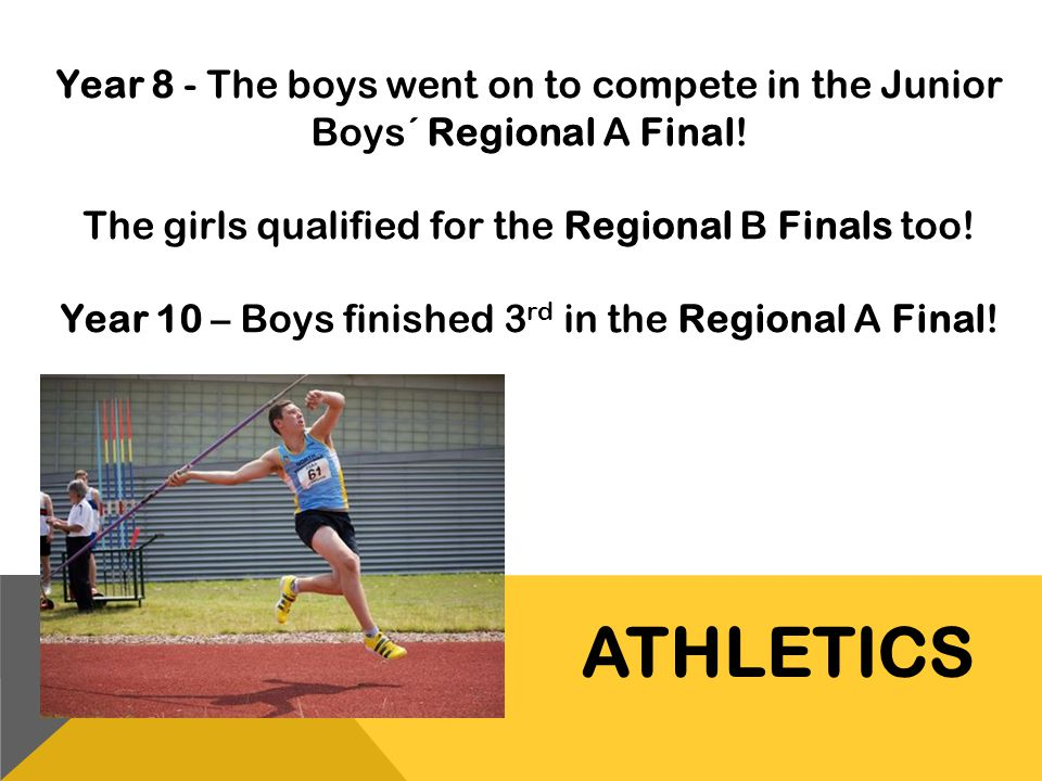 Year 8 - The boys went on to compete in the Junior Boys´ Regional A Final!