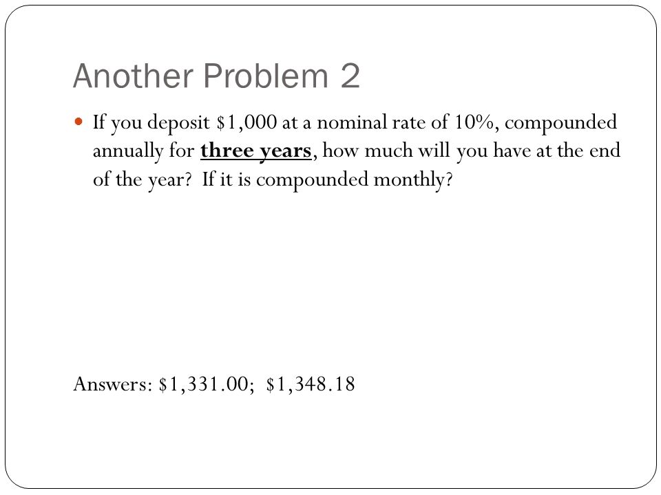 Another Problem 2