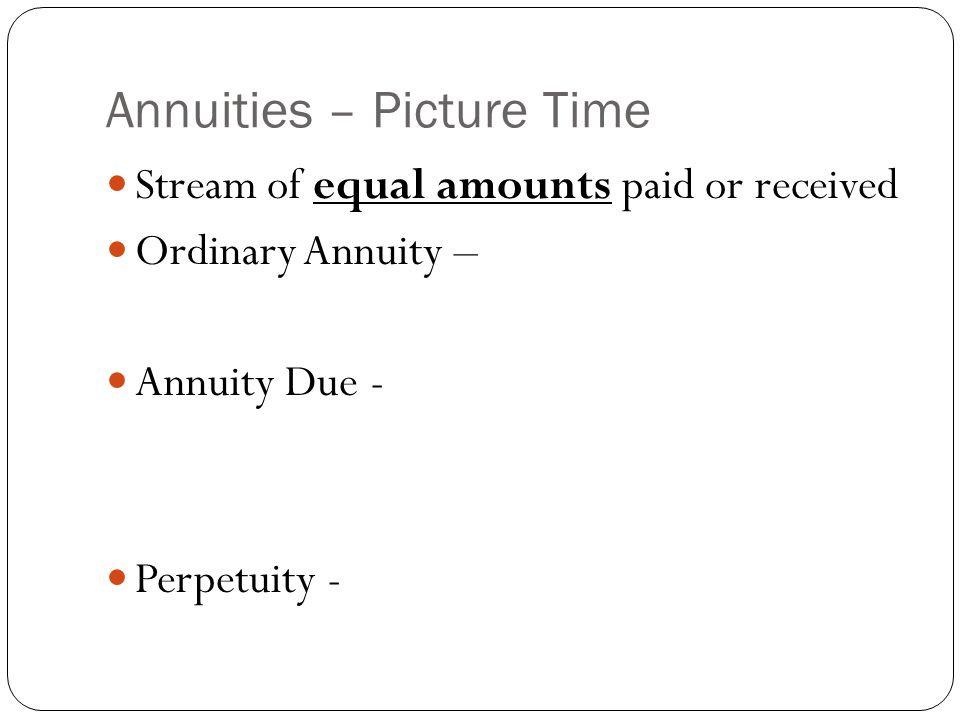 Annuities – Picture Time