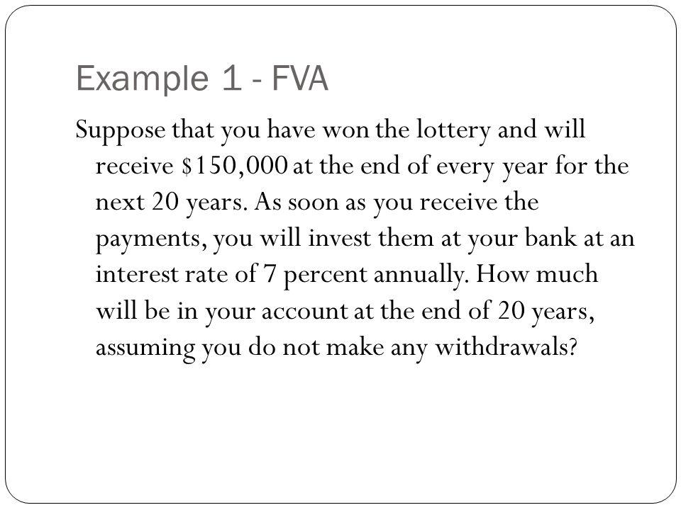 Example 1 - FVA