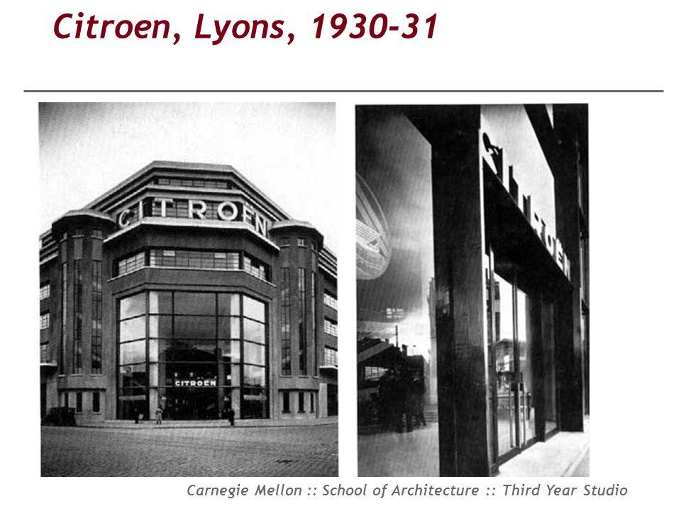 Citroen, Lyons, 1930-31