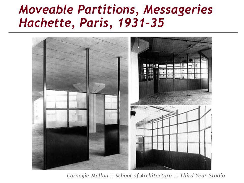 Moveable Partitions, Messageries Hachette, Paris, 1931-35