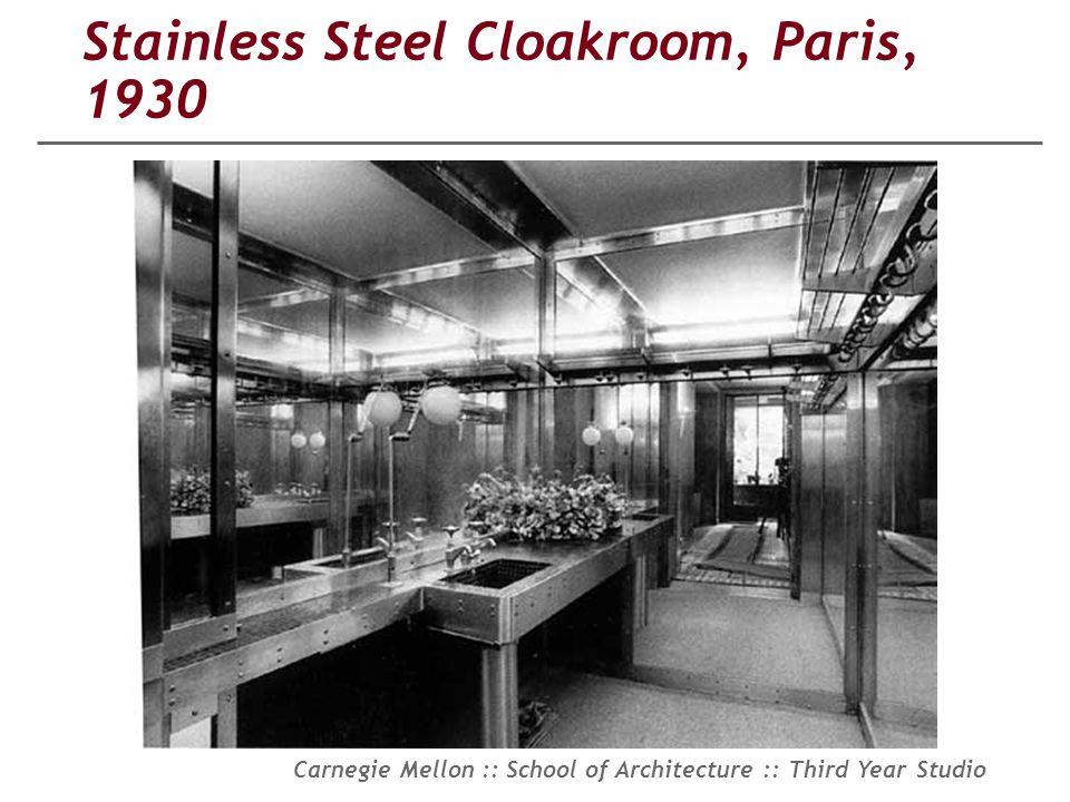 Stainless Steel Cloakroom, Paris, 1930