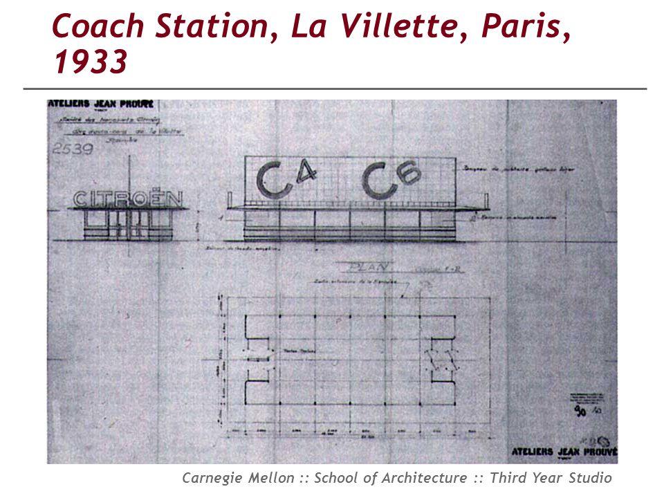 Coach Station, La Villette, Paris, 1933