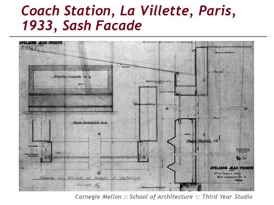 Coach Station, La Villette, Paris, 1933, Sash Facade