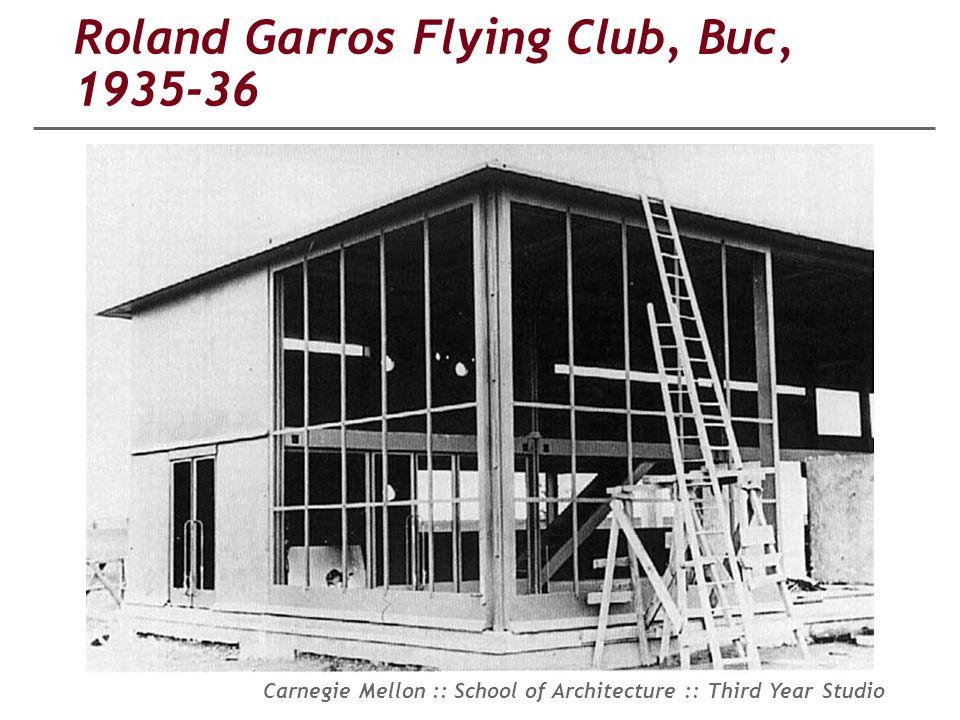 Roland Garros Flying Club, Buc, 1935-36
