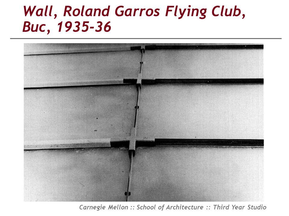 Wall, Roland Garros Flying Club, Buc, 1935-36
