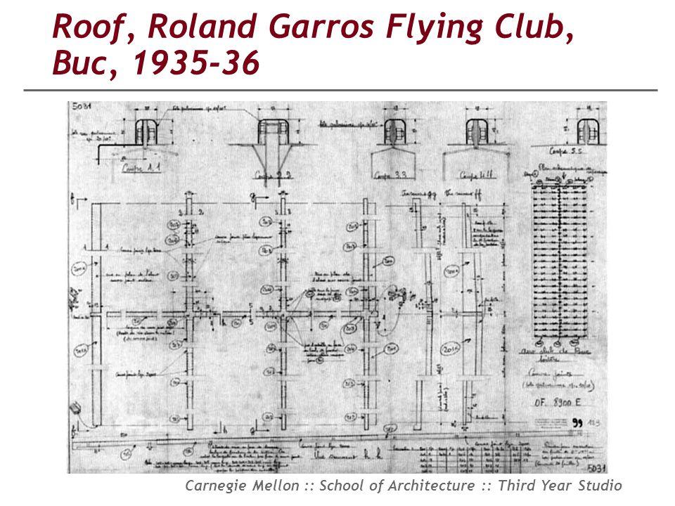 Roof, Roland Garros Flying Club, Buc, 1935-36