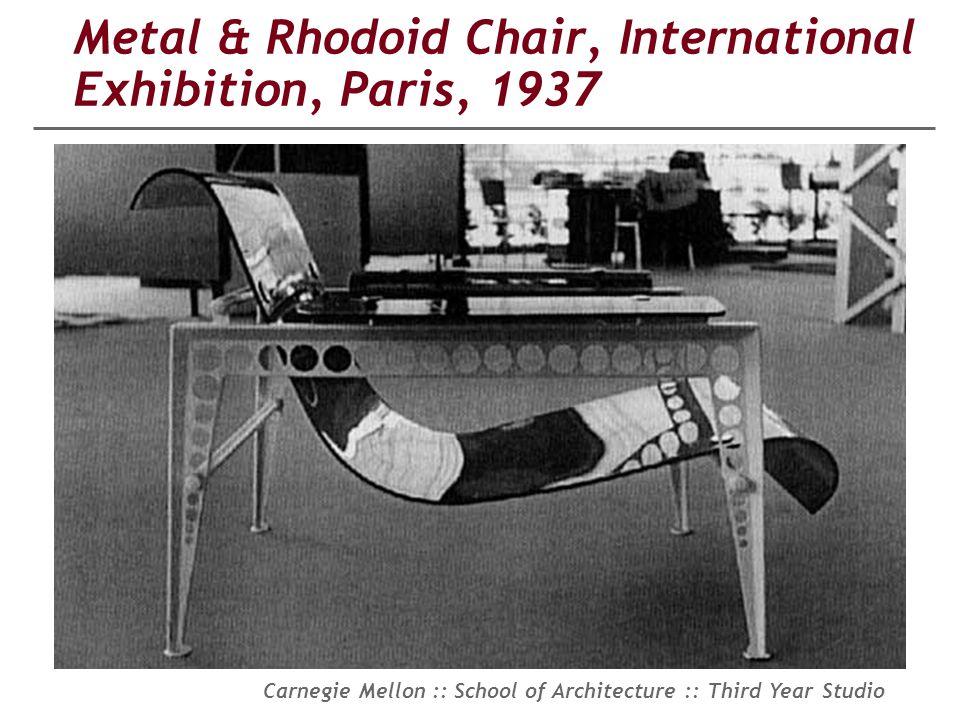 Metal & Rhodoid Chair, International Exhibition, Paris, 1937