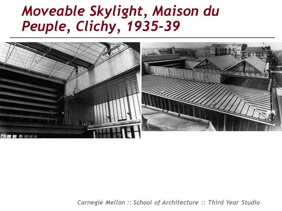 Moveable Skylight, Maison du Peuple, Clichy, 1935-39