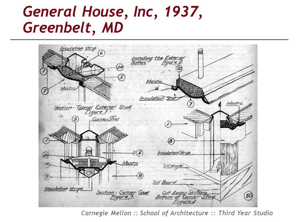General House, Inc, 1937, Greenbelt, MD