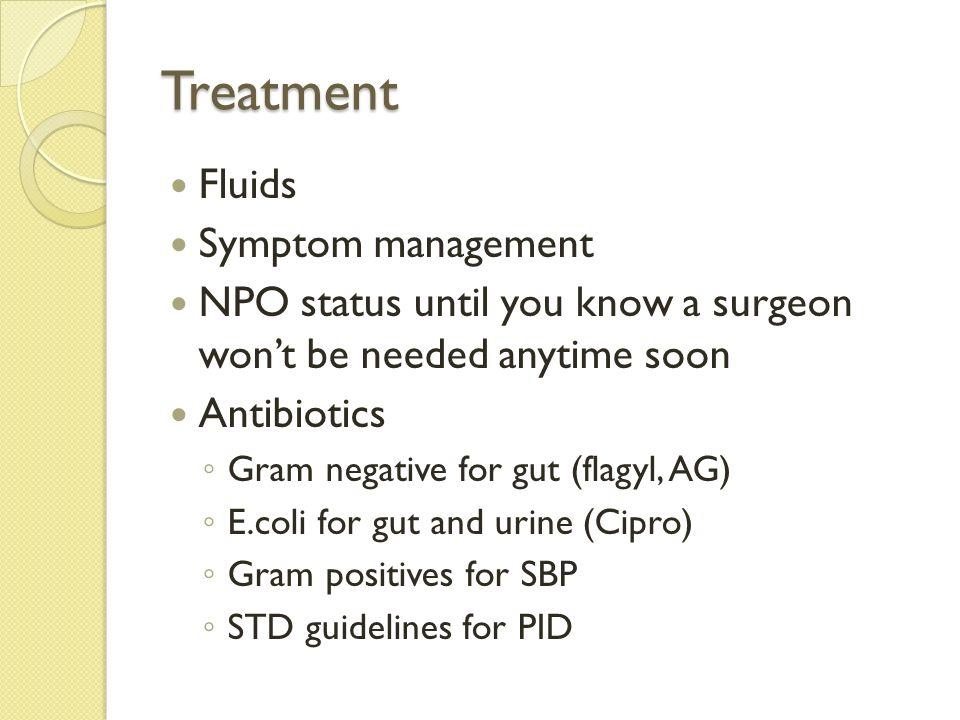 Treatment Fluids Symptom management