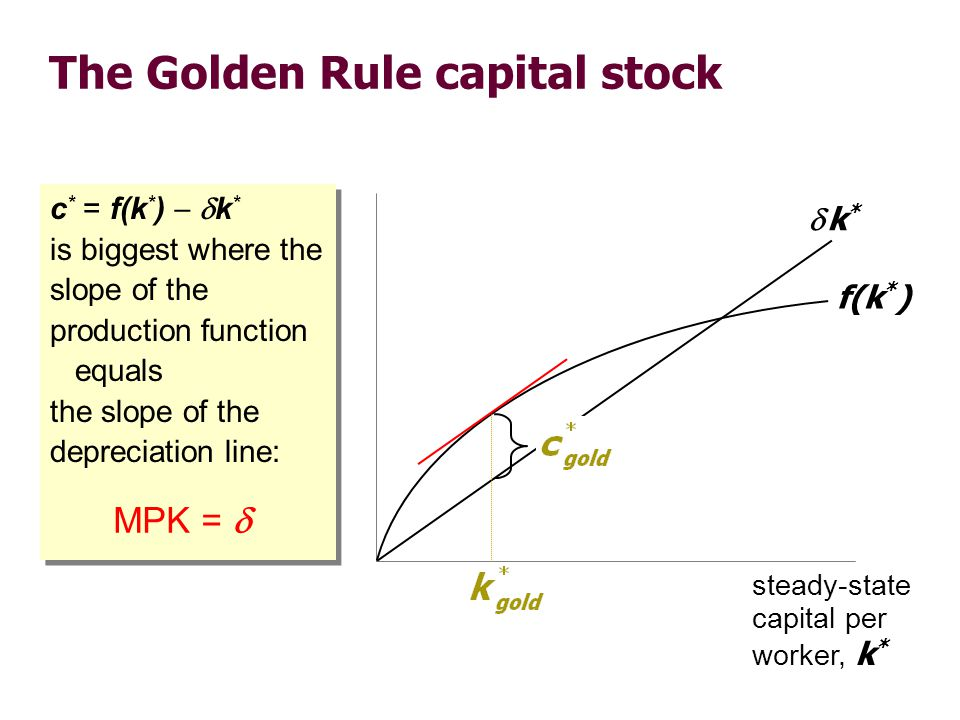 The transition to the Golden Rule steady state
